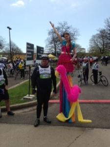 Stilt walker at the Finish Fest.  She was amazing!