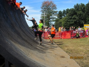 The warped wall was the hardest obstacle there this year, but a great way to close out the race!